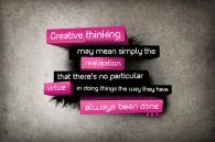Thinking < Solving Creativly